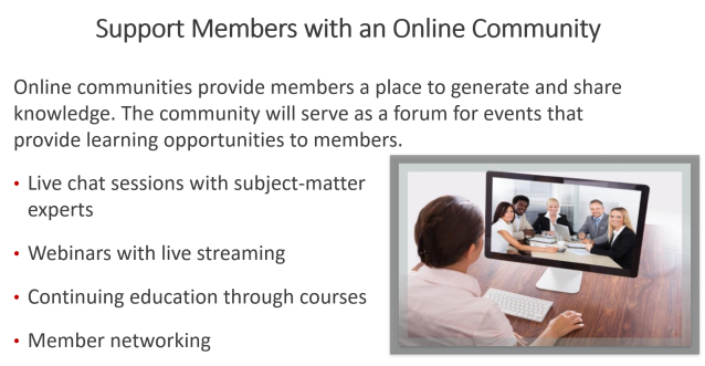 Support Members With An Online Community